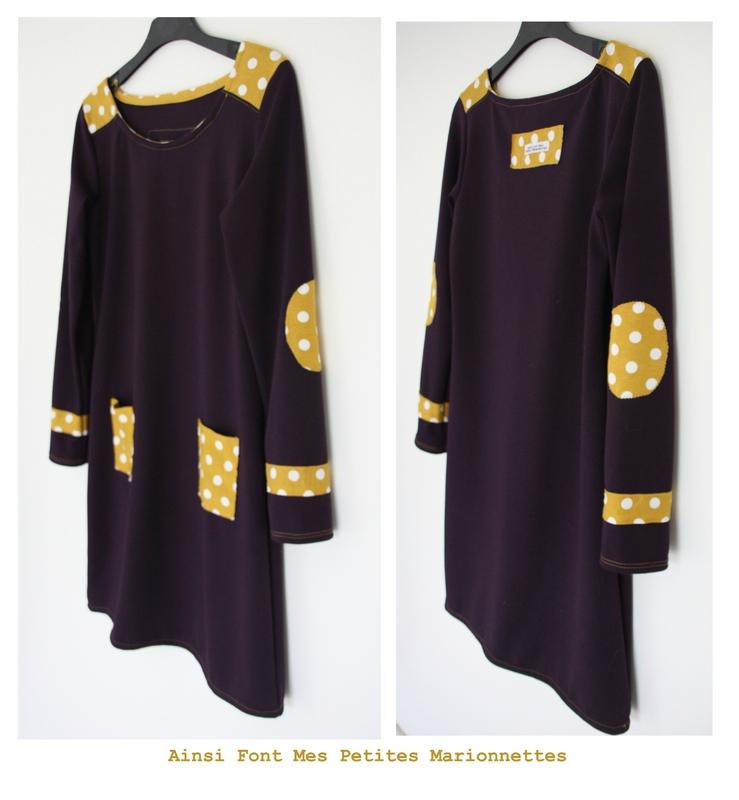 robe violette jaune 3