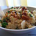 Risotto cremeux parmesan, gorgonzola et noix