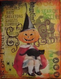 352 - Halloween Atc faites avec images imposées