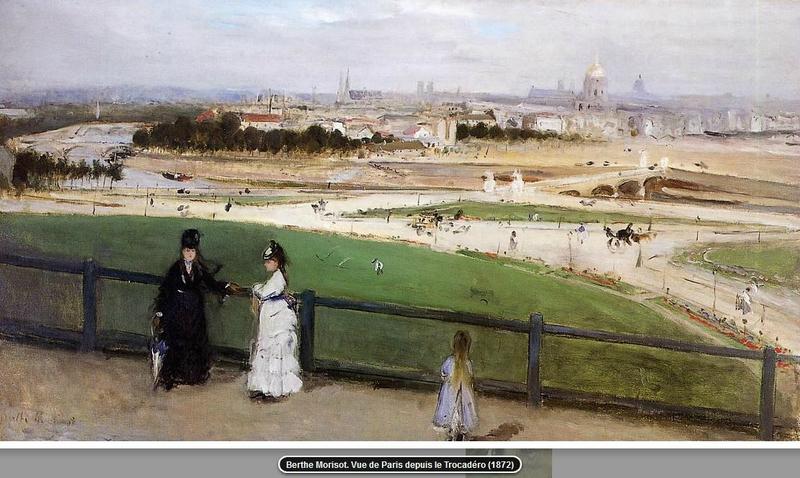 Paris depuis le Trocadéro, Morisot (1872)