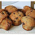 Muffins okara d'amandes aux pépites de chocolat ( thermomix )