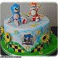 Gâteau sonic et tails