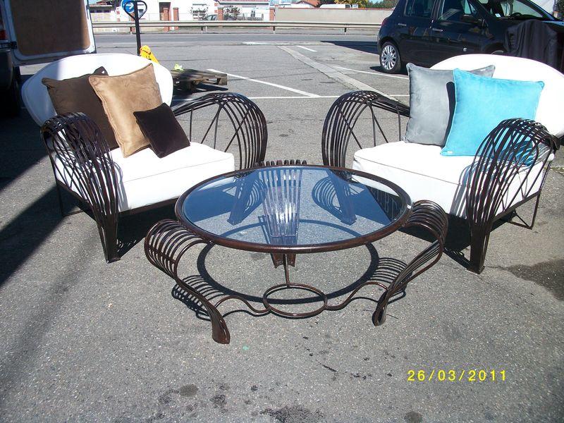 des fauteuils club en fer forg decor 39 in id es conseils. Black Bedroom Furniture Sets. Home Design Ideas