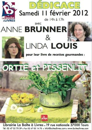 affiche boite  livres ortie et pissenlit
