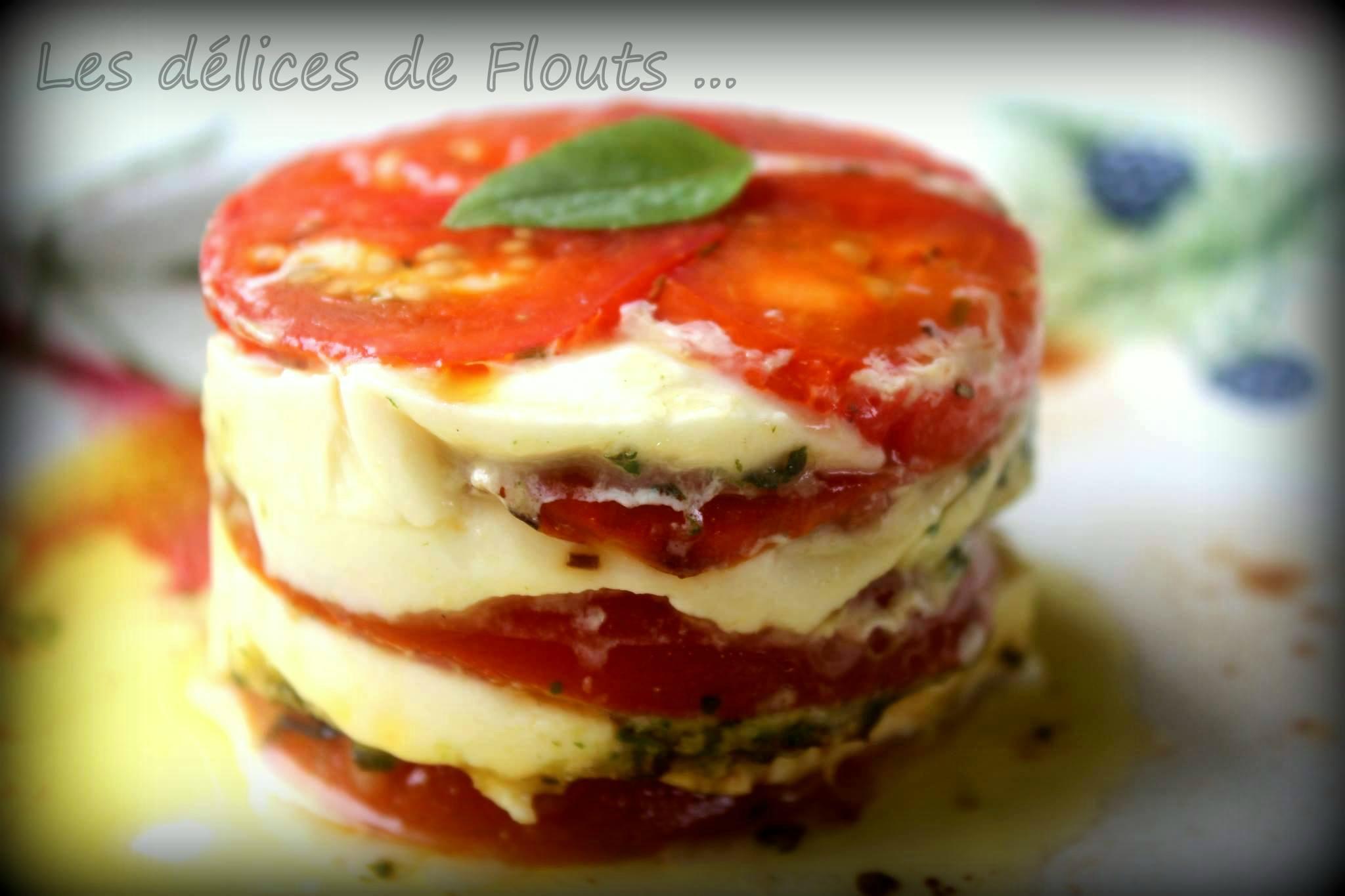 Mille feuille tomates mozzarella les d lices de flouts for Entree facile ete