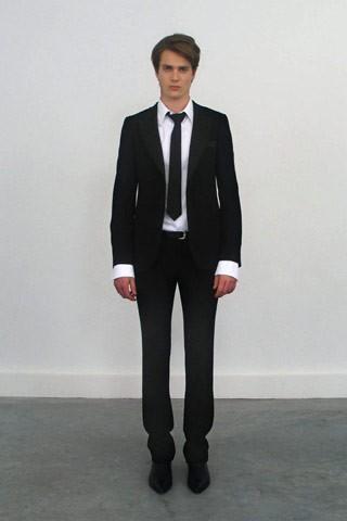 Un costume balenciaga homme printemps et 2007 eloge du noir par alain truong - Costume homme ete ...