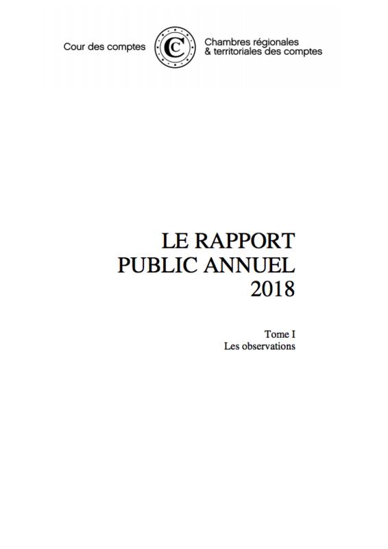 Cour des comptes rapport annuel 2018 tome