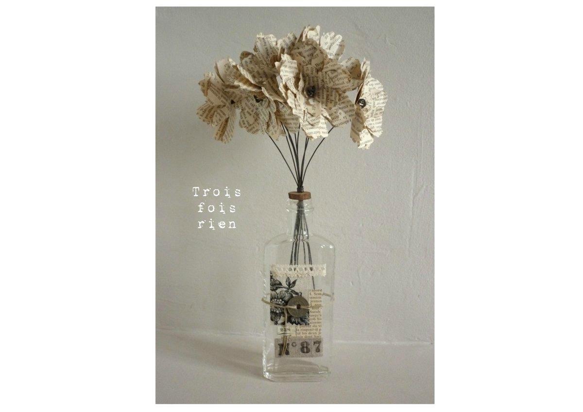 Fiole et fleurs papier N°28 (1)