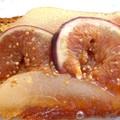 Tatin de pain d'épice figues et poires épicée