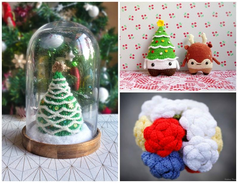 sapin-crochet-bouquet-mariée-lalylala-winter-noël-sapin-renne