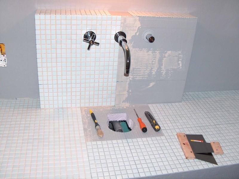 carrelage de la salle de bain (fait par nous) - mission ...