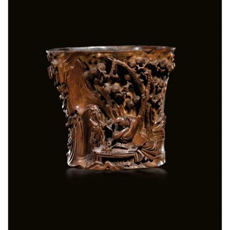 A_carved_Boxwood_brushpot