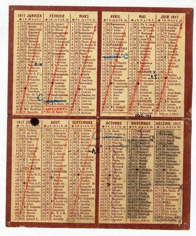 01 01 Calendrier 1917