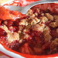 Crumble de fraises au pain d'pices