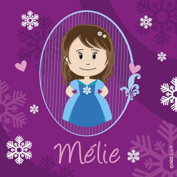 coupon nidillus-princesse des neiges - chatain