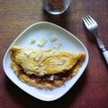 Omelette roulée aux cèpes et parmesan