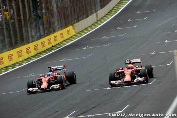 2014-Interlagos-F14 T-Alonso_Raikkonen