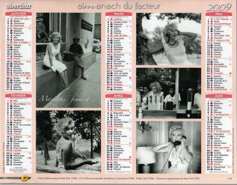 Calendrier Poste.Calendrier La Poste 2009 Divine Marilyn Monroe