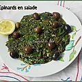 Epinards en salade