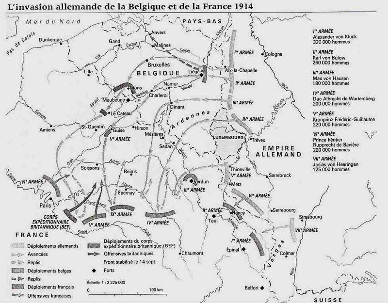 Invasion Belgique France 1914