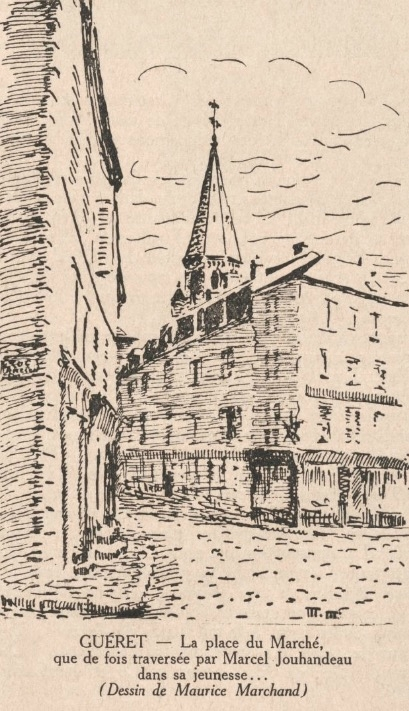 Guéret place du Marché, Jouhandeau