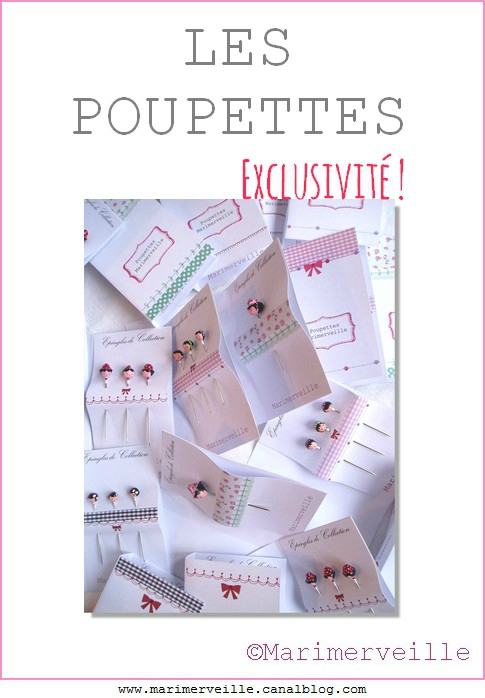 Marimerveille collection épingles poupettes