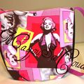 bag marylin rose signé