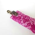 Porte clés dentelles roses2