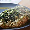 Omelette au pourpier