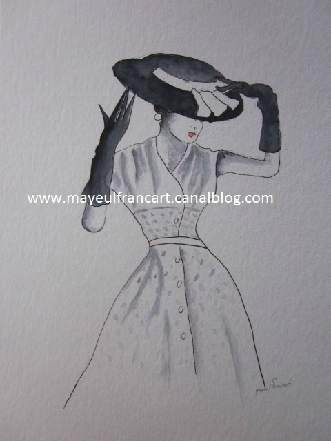 La femme au chapeau II