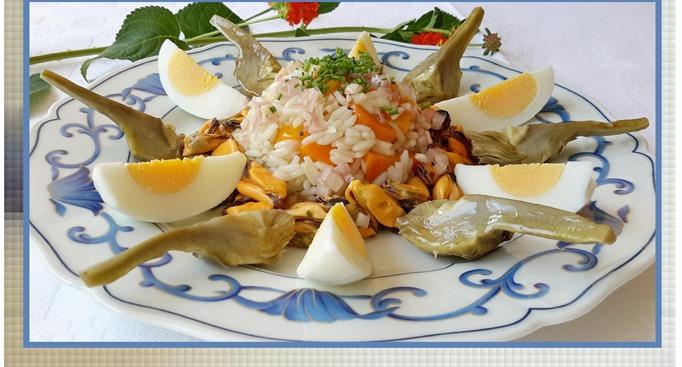 salade de riz aux moules