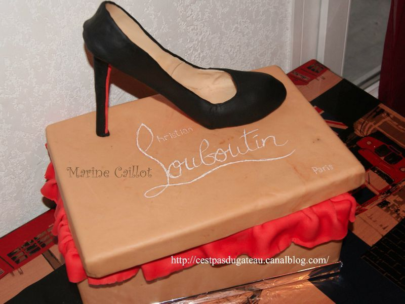 chaussure louboutin en pate a sucre