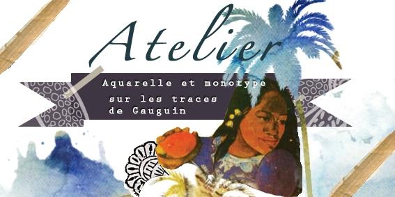 etiquette atelier aquarelle-monotype-gauguin
