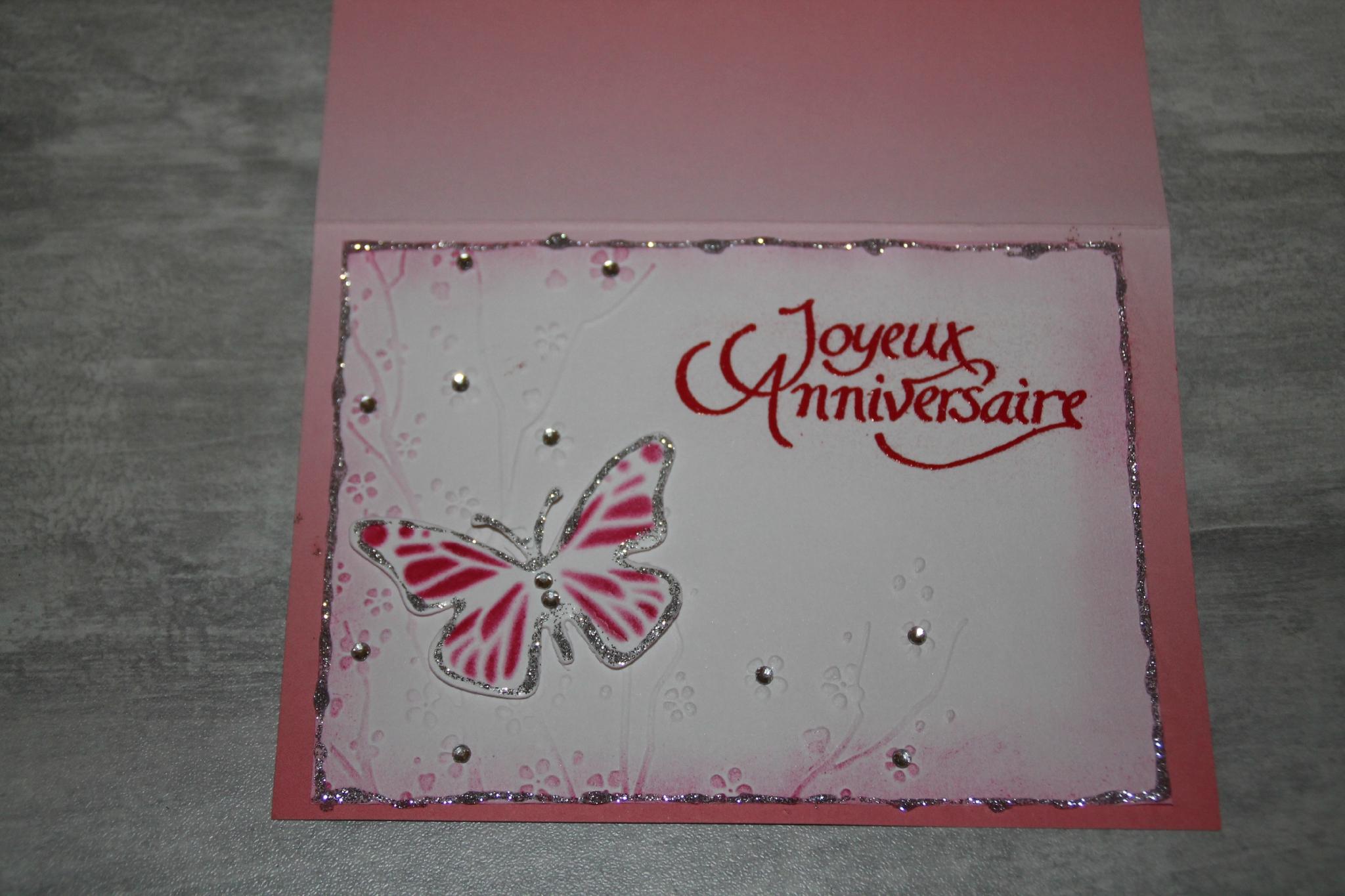 3 cartes d'anniversaire