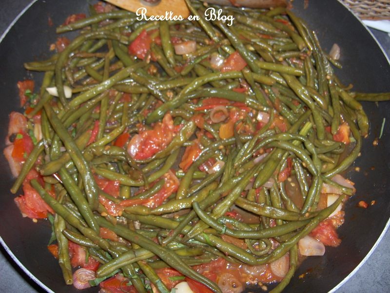 haricots verts a la tomate recettes en blog. Black Bedroom Furniture Sets. Home Design Ideas