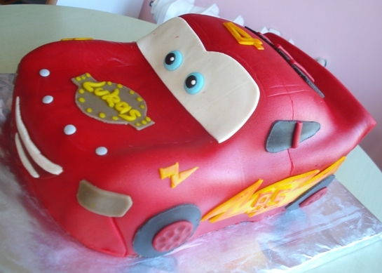 Gâteau Cars Flash Mcqueen #1