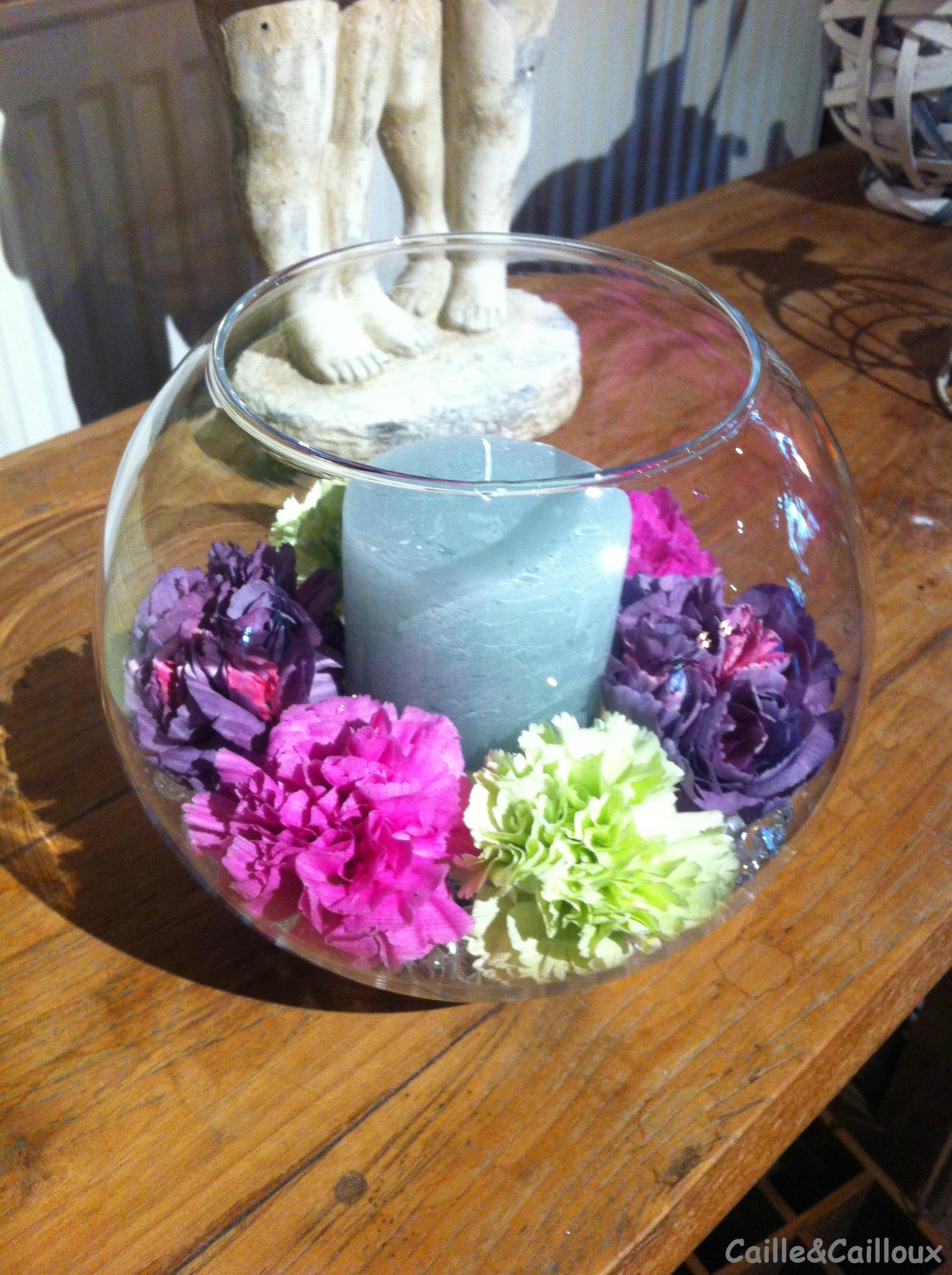 Récup et fleurs...