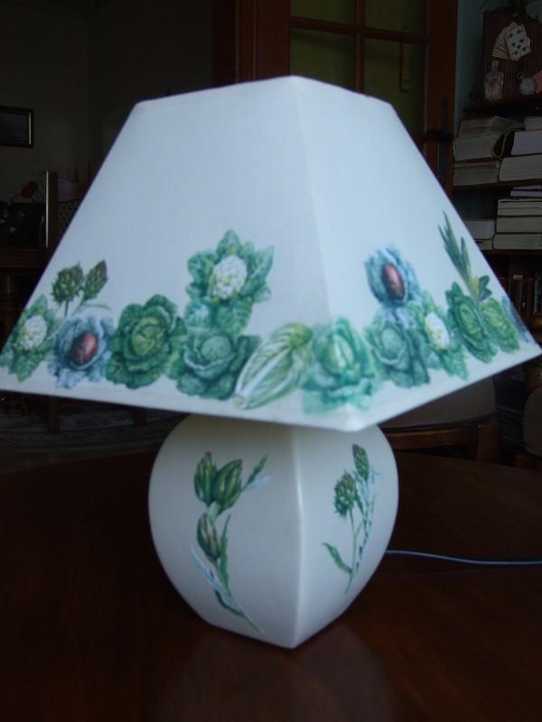 lampe décors légumes