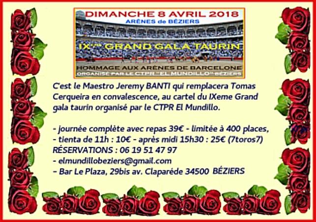 COMMUNIQUÉ gala 2018 EL MUNDILLO
