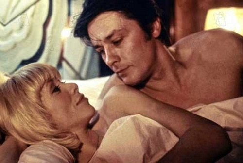 Mireille-Darс-and-Alain-Delon-in-Les-seins-de-glace-directed-by-George-Lautner-1974