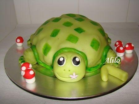 G teau tortue en p te d 39 amande bis les g teaux - Deco gateau pate d amande ...