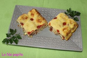 clafoutis thon tomate sche