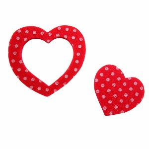 coeur-double-rouge-a-pois-blanc-mousse