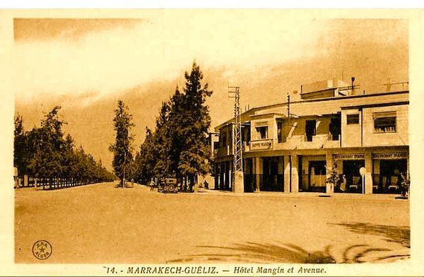 4-Marrakech - Gueliz - Hôtel Mangin et Avenue