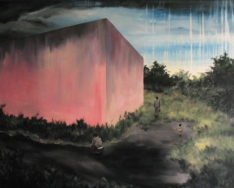 Linda Roux, A family II, acrylique sur toile, 100 x 80 cm, 2009
