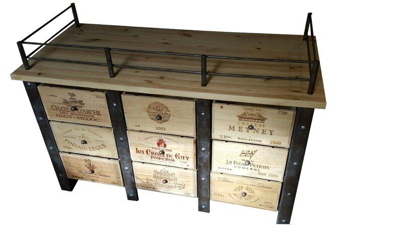 Meuble caisses de vins stockages bouteilles de vins mobilier cave vins - Meuble pour cave a vin ...