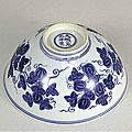 Blue-and-White Bowl with Melon Design, Ming Dynasty, Chenghua Mark and Period, (1465-1487), d.15.5cm. Acc. No. 10682. Gift of SUMITOMO Group, the ATAKA Collection. The Museum of Oriental Ceramics, Osaka. © 2009 The Museum of Oriental Ceramics, Osaka.