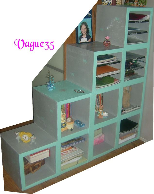 etag re termin e meubles carton objets carton bijoux fimo mes bricoles. Black Bedroom Furniture Sets. Home Design Ideas