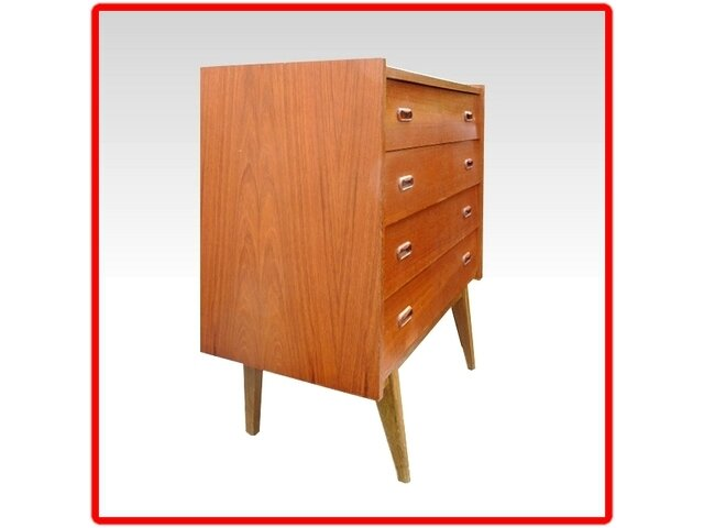 commode teck design scandinave 1960