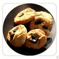 Cookies chocolat amandes